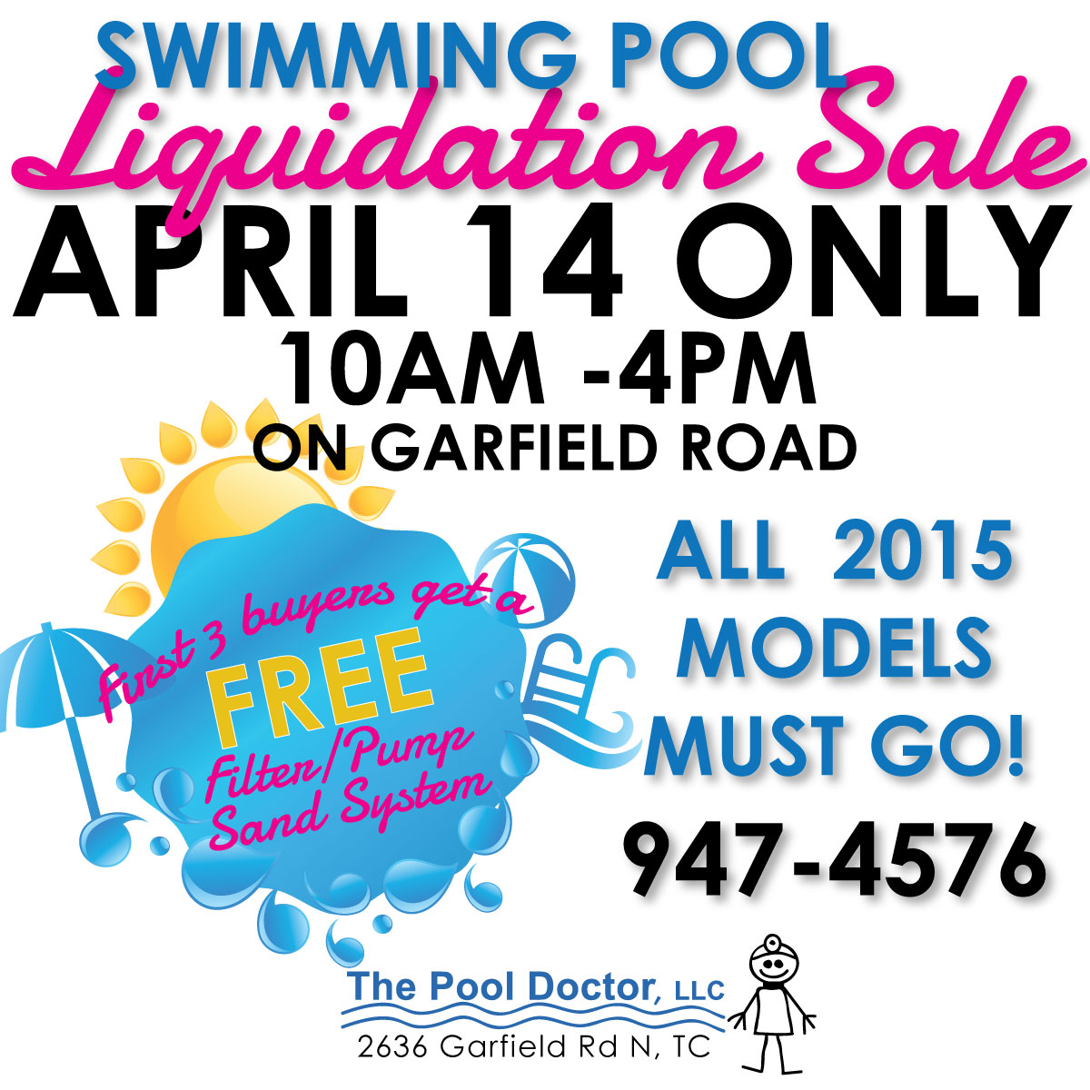 The Pool Doctor, LLC Pool Liquidation Sale